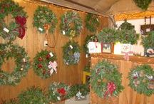 The Primitive Pinecone Wreaths & Greenery Items / We sell fresh, handmade wreaths, swags, roping, boxes, ect... at The Primitive Pinecone Gift Shop, conveniently located @ Hill Farms.   www.hillfarms.com