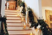 Mantle & Banister Christmas Decor / These pins are things/ideas we found on Pinterest and absolutely LOVE for the upcoming holidays!!!  Similar items to the ones found in these photos are sold @ The Primitive Pinecone!