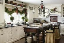 Kitchen Christmas Decorating Ideas!!! / The staff @ The Primitive Pinecone gift shop loves these ideas.  Similar items to those featured in these photos may be found at our gift shop!