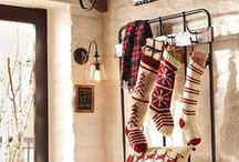 and the STOCKINGS were hung... / The Primitve Pinecone staff LOVES to see creative stockings and interesting ways to incorporate them into holiday decorating!!!!