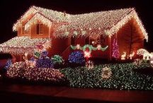HOMES for the Holidays...light the nights!!! / How creative can home owners be at Christmas???  LOOK at these ideas for both Do's & Dont's...you decide!  :)