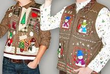 UGLY Christmas sweaters & more!!! / OK...Who doesn't have one of these stashed somewhere deep in a drawer???  We have ALL received one of these as a gift from someone who claims to LOVE us.   Seriously, you would make a loved one wear one of these????  LOL :)
