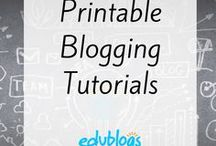 Printable Tutorials on Blogging and Technology / Our one page quick tip flyers that you can view online or print to help you or your students. How-tos on blogging and edtech.