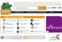 Códigos descuento / Códigos descuento, vales descuento, cupones, cheques, códigos promocionales, descuentos, chollos y gangas para ahorrar en tus compras on-line.  http://buscacupones.es