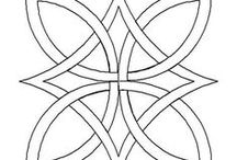 (Zen) Tangle - Blank Templates - Strings / Also See - CP - Mandalas - Tangle-able
