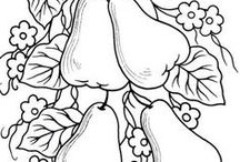 Coloring Pages / Really Line Drawings of All Kinds - Can be colored - Used in embroidery - Felt or other craft projects - or just ideas to practice drawing