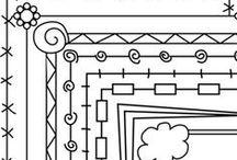 Easy/Filler/Border - Tangle Patterns