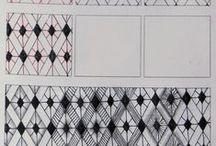 Tangle Patterns - A - B - C