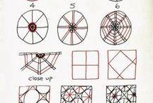 Tangle Patterns - W - X - Y - Z