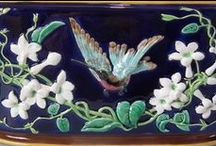 Birds in Majolica, Majolica International Society / Almost all fine and decorative artists love working with bird motifs, and the Majolica designers were no exception. Here is a smattering of bird inspiration from the 19th Century.