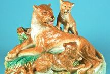 Magnificent Majolica Animals / Majolica is a highly sculptural decorative art, and nowhere is this demonstrated as well as with its huge variety of beautiful and fascinating animals.