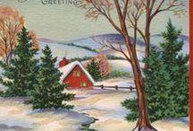 Képeslapok / karácsony,téli táj