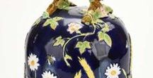 Covered Majolica Dishes, Boxes and Jars / Anything with a cover.