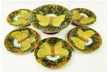Majolica Table Ware Sets / Nearly all Majolica factories made table ware in sets. Here are some examples.