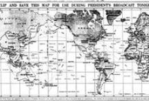 MAPS--O L D-- N E W / maps of the world and different contries or treasure maps