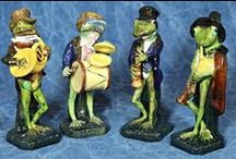 Circus Players, Performers, Comics and Musicians in Majolica / You never know who has a hidden talent. What majolica figure will entertain you today?