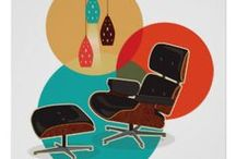 Mid Century Modern Dream Home / Mid Century Modern art, posters, paintings, modern furniture, atomic lamps and everything mid century decor!  If I had all the money in the world this is what my house would have in it! / by Retro Gift Ideas