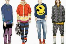 Croquis Masculinos / Men fashion ilustrations