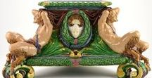 Renaissance Revival in Majolica / The art of the Renaissance was a crucial design source for the Majolica makers of the 19th Century. Yet, each company managed to find its own take on the Renaissance era.