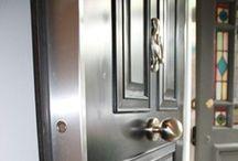 Steel Door covered in Luxury Wood