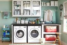 Laundry Room  / I love all of these ideas....