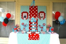 Dr Seuss Thing 1 & 2 Baby Shower