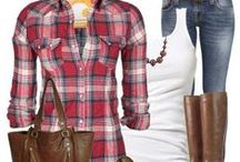 Cabin Threads / Cabin Casual outfits: Relaxed women's clothing in plaid, denim and buffalo check to wear to the cabin or when you just want to be comfortable and cozy at home! / by Setting for Four
