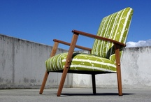 Restored Mid-Century Furniture / Beautifully restored mid century furniture using modern hand printed textiles