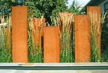 Metal / The use of corten steel and other metals in the garden.