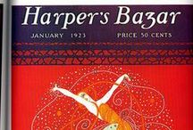 HARPER'S BAZAAR / The fashion magazine (publ. from 1867), played an important role in the field of illustration in fashion, from exclusive contract that reserved the illustrator of Russian origin Erte, lasted from 1915 to 1938 but concentrated in the years until 1926, when the 'artist began to work more in the field of theater productions. The fashion magazine, was illustrated by great artists such as Eduardo Benito, George Barbier and Georges Lepape.