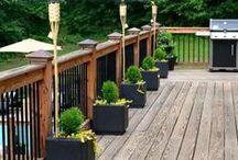 Deck, Porch, Patio, back garden / Decorations and DIY ideas