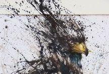 Hua Tunan / Splatter Drawings