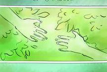 Три стука в стену / комикс о настоящей дружбе и важности данного слова