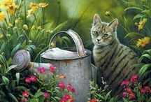 Immortal Felines: Cats in Art / Felines are wonderful subjects for the creative spirit. Please FOLLOW ME if you'd like to share your favorite ARTISTIC REPRESENTATIONS of cats from ancient times to the present.. Also, check out KITTYCOMMOTION.COM for more info and sharing about cats.  FRIENDLY REMINDER – This is a CAT ART BOARD. NOT A CUTE OR FUNNY PHOTO BOARD. Please pin photos only if they have an artistic vision of cats. SORRY, BUT I WILL DELETE photos that are not in line with this board's intent