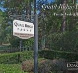 Quail Ridge Farms, Ponte Vedra, FL 32081 / Beautifully gated Quail Ridge Farms in Ponte Vedra, Florida is an equestrian community with only 49 large peaceful and serene wooded lots. In this gated community, you can explore the equestrian trails exclusively for resident use only. Oversize lots range from 2 1/2 to 5 acres each and have custom homes, so no two homes are the same. As you drive through the community, you are surrounded by mature oak trees, large lots and several lakes.