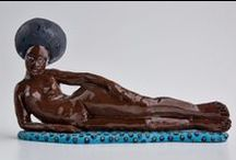 Maureen Visagé - Sculptures / Sculptures in Clay by Maureen Visagé