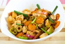 Tofu recipe – with olives and veggies in rum sauce / Stir fried tofu veggie in rum sauce recipe are very crunchy, colorful and has a very different flavor because of critical ingredients Cloves and Rum.