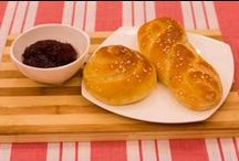 Fresh baked twisted bread / Nothing can compare with a fresh baked twisted bread right from the oven with a generous spread of strawberry preserve.