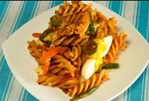 Spirali Pasta with Olives, cheese and eggs / Pasta recipe with olives, cheese and eggs is dedicated to all mothers who are really concerned on how to make kids enjoy all good veggies.