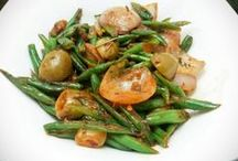 Olive and French beans veggie – with Onion, Italian herbs seasoning and red chilli flakes / Olive and French beans veggie recipe is very crunchy, colorful and has a very different flavor due to Italian herb seasoning used in this healthy kid's recipe.