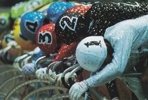 Keirin Racing / is a form of motor-paced cycle racing in which track cyclists sprint for victory following a speed-controlled start behind a motorized or non-motorized pacer. It was developed in Japan around 1948 for gambling purposes and became an official event at the 2000 Olympics in Sydney, Australia.