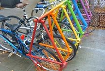 Bike Racks / Scultpural, functional, natural.....ways to stash your tredley safely out of harms way.