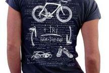Triathlon T Shirts / Original hand drawn and hand painted triathlon designs.