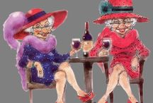 """RED HAT SOCIETY...Red n Purple... / Hi, my Red Hat name is """"HRH Queen Cointreau"""" Australia... / by Jo Chapman"""