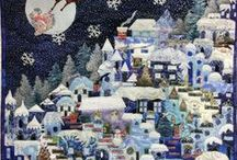 Christmas quilting / Christmas themed quilted table runners, mats, wall hangings