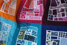 scrappy quilts / Ways to use up all those scraps that multiply so quickly!
