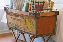 vintage boxes / crates