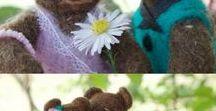 Cute toys / #felted toys #cute #needle #animals #miniature #dools #teddy #amigurumi #ooak