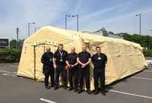Emergency Management, Disaster Relief Planning & Rapid deployment Inflatable Tents / Rapid Response Products for #EMS #Decontamination #Emergency #DisasterRelief:  Contact losbergeruk@losberger.com for prices and information