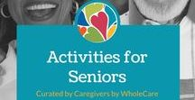 Activities for Seniors / Active Seniors live longer! This board is filled to the brim with great suggestions to keep seniors having fun, laughing, engaged, and ACTIVE.